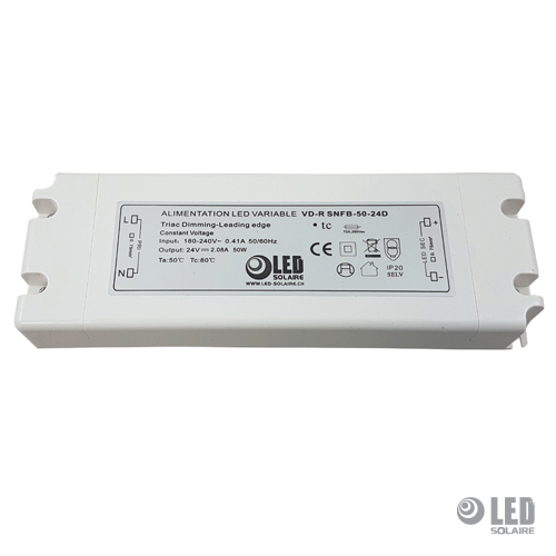 Alimentation bornier variable par la phase 24V 15 W < 50 W